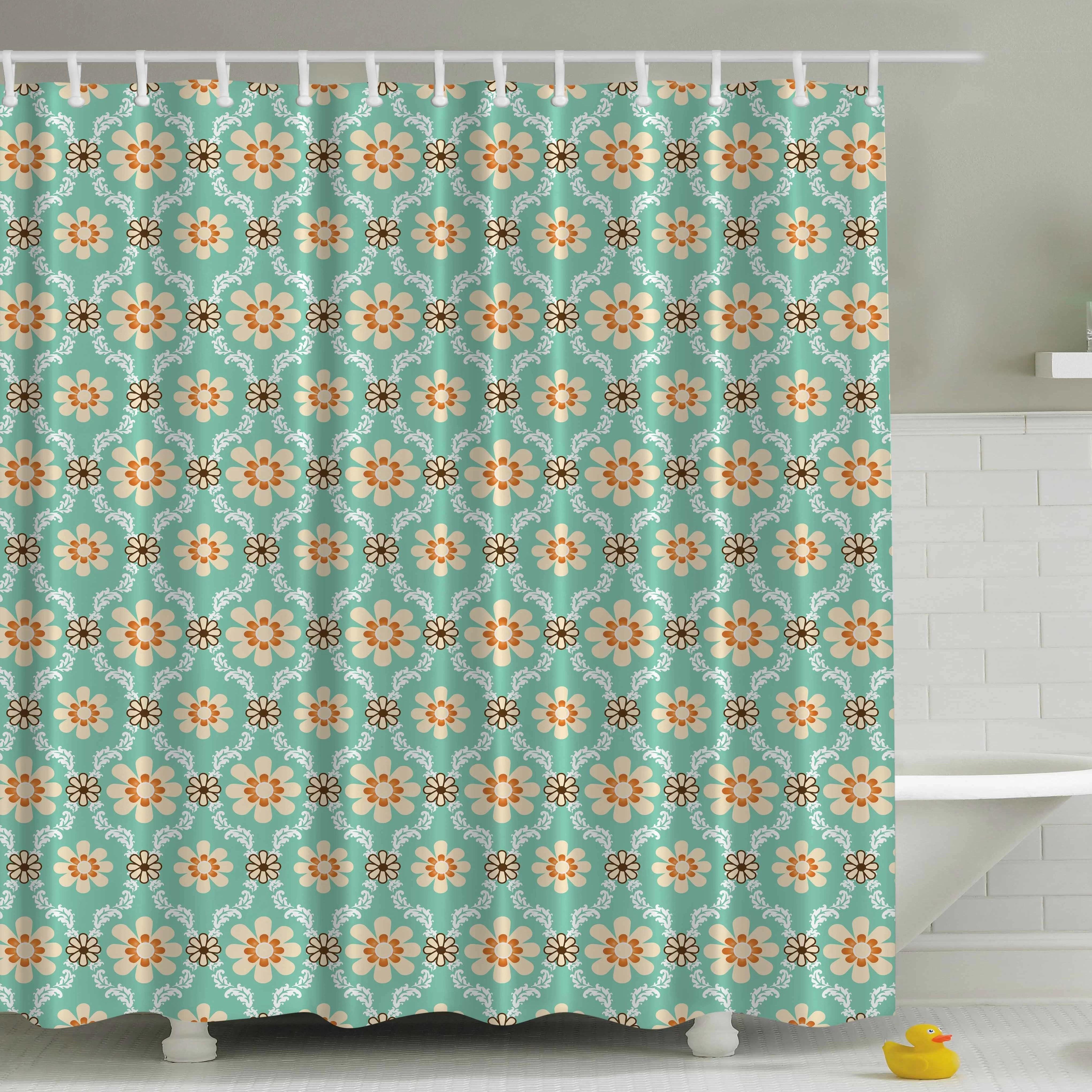 rustic cactus wood shower curtain bathroom waterproof fabric hook mat home decor shower curtains home garden