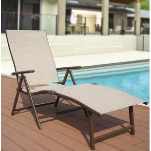 folding outdoor lounge chair adirondack beach photo frame chairs you ll love wayfair quickview