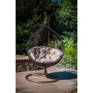 swing chair with stand outdoor aeron size c hanging wayfair quickview