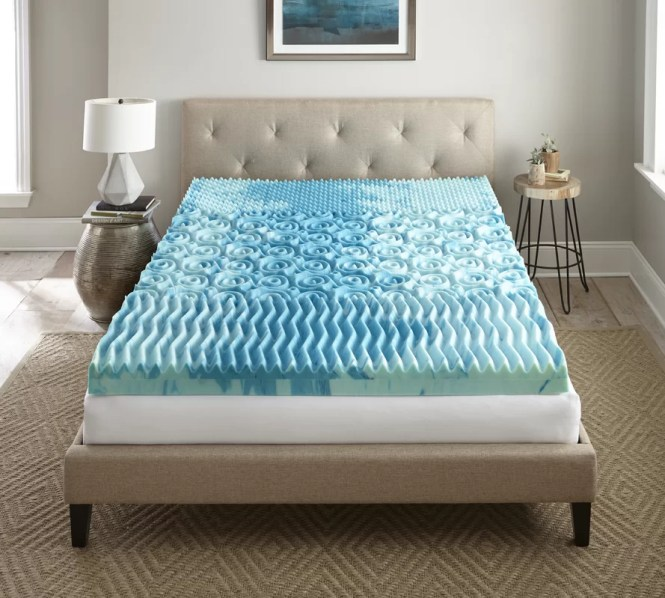 Sleep Cool Gellux 4 Gel Memory Foam Mattress Topper