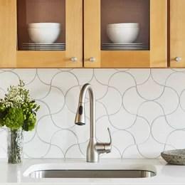 kitchen fixtures unfinished base cabinets you ll love wayfair backsplash tile