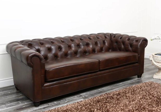 Leather chesterfield sofa interest free credit for Sofa 0 interest