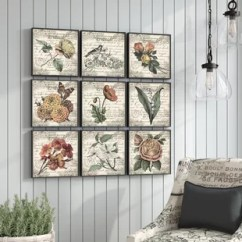 Wall Art Sets For Living Room Front 5th Wheel Toy Hauler 4 Piece You Ll Love Wayfair French Botanical Illustrations 9 Canvas Set
