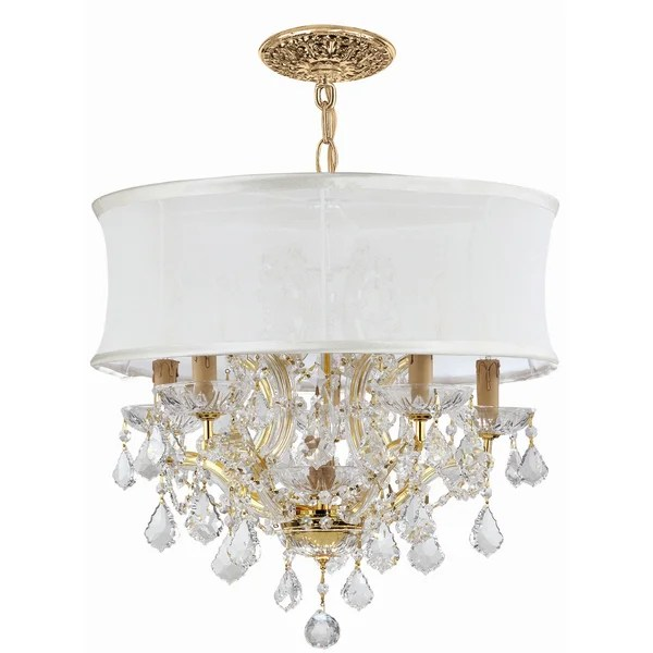 Rosdorf Park Corrinne Traditional 6 Light Glass Drum Chandelier Reviews Wayfair Ca