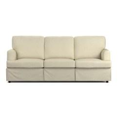Sure Fit Stretch Pique 3 Piece T Cushion Sofa Slipcover Jordan Cocoa Convertible Storage Covers Decor Samantha 2 Seat ...