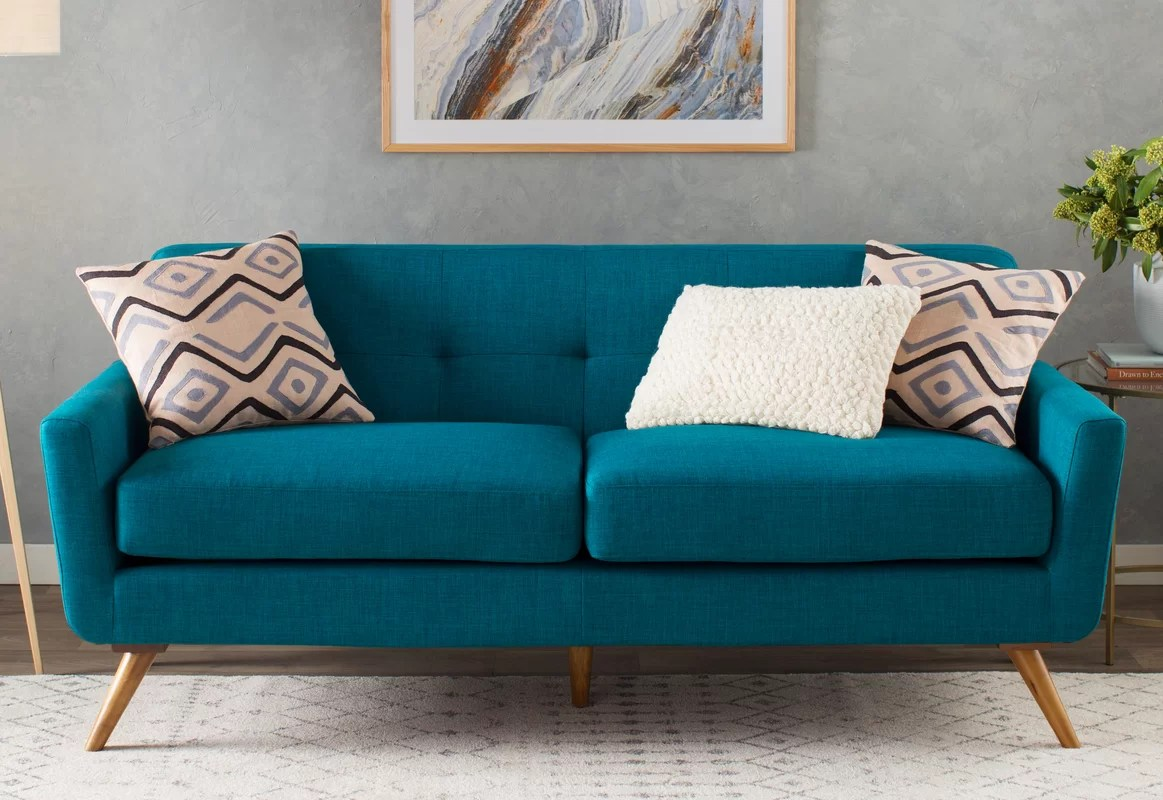 tufted turquoise sofa best product to clean white leather fresco and reviews allmodern