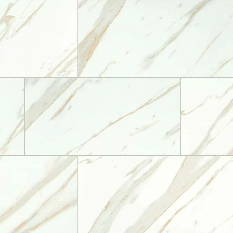 MSI Calacatta 12 x 24 Porcelain Field Tile in White