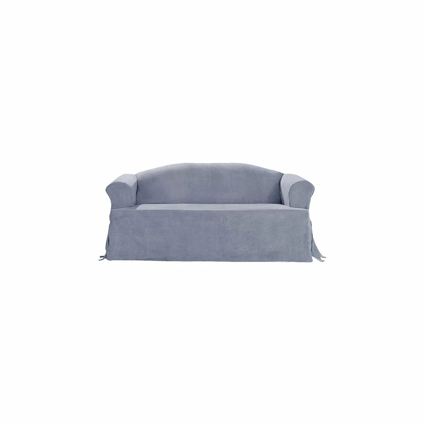 sure fit soft suede sofa slipcover buy bed ebay t cushion and reviews