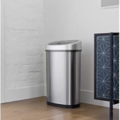 Kitchen Trash Outdoor Kitchens Orlando Cans You Ll Love Wayfair Ca Stainless Steel 13 2 Gallon Motion Sensor Can