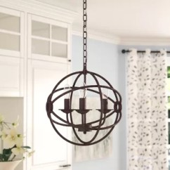 Kitchen Chandeliers Refacing Cabinets Before And After Chandelier Wayfair Wheatland 3 Light