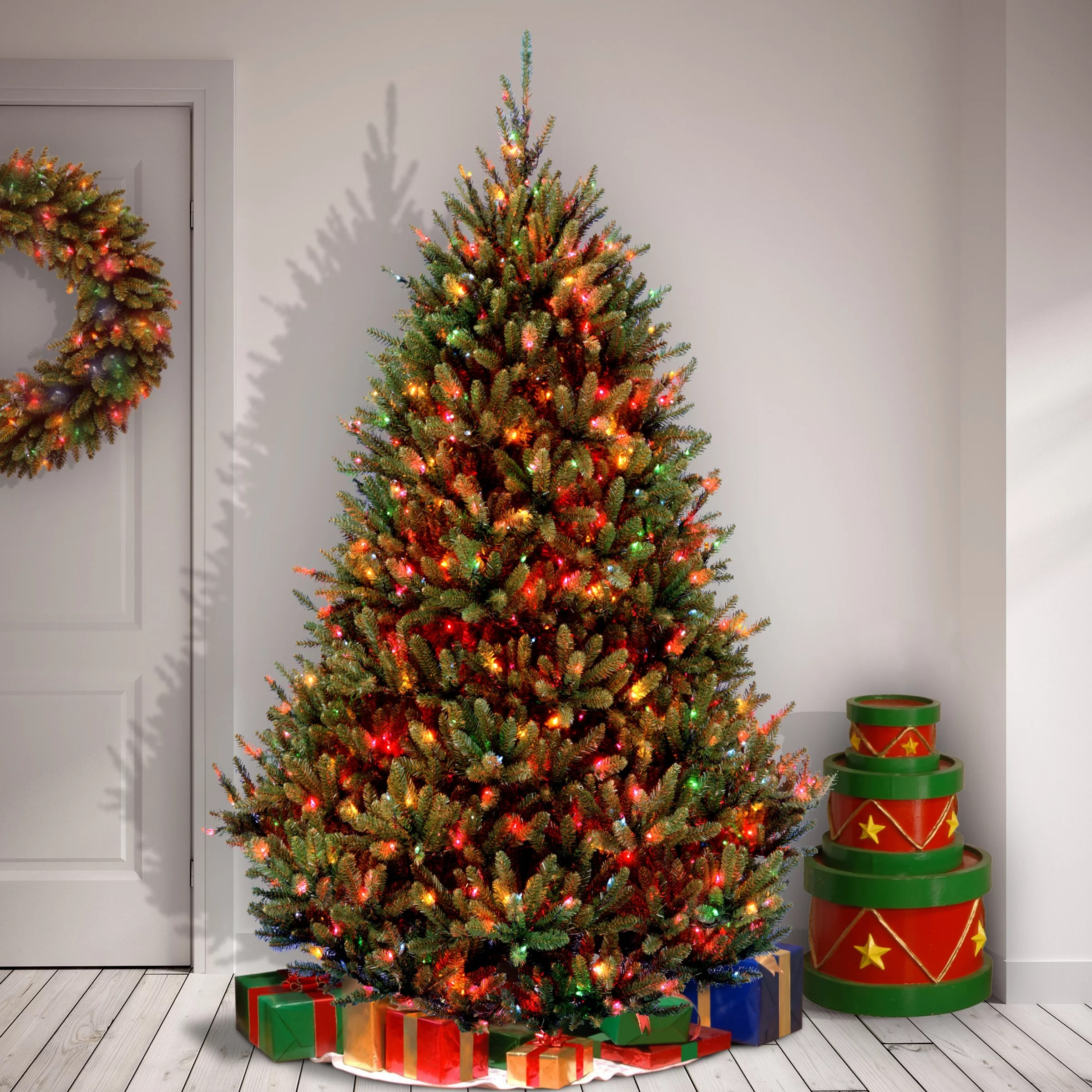 National Tree Co Natural Fraser 7 5 Green Fir Artificial