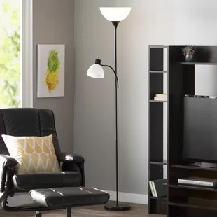 floor lamp living room how to decorate a with dark brown furniture lamps you ll love wayfair nahla 71 37 torchiere