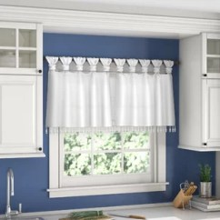 Valances For Kitchen Windows Modern Chairs Window Cafe Curtains You Ll Love Wayfair Quickview