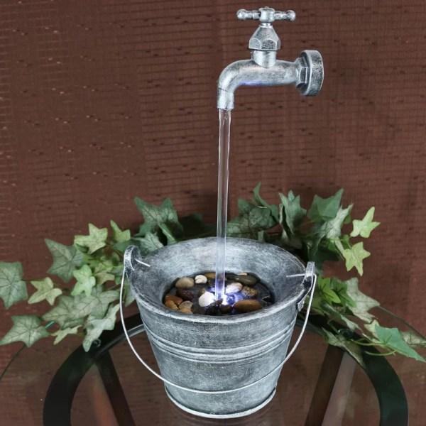 Sunnydaze Decor Floating Faucet Indoor Tabletop Water
