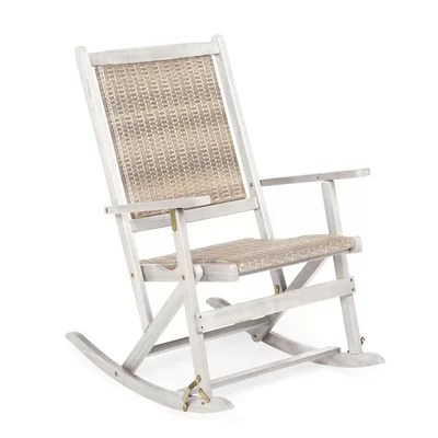 wayfair rocking chair cushions cover hire poole patio chairs & gliders you'll love |