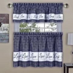 Blue Kitchen Valance Small Remodel Ideas Valances Curtains You Ll Love Wayfair Quickview