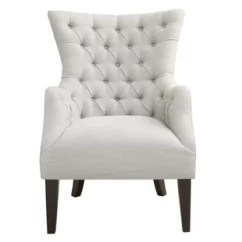 White Tufted Chair Linen Dining Covers Nz Chairs Wayfair Steelton Button Wingback