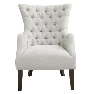 white tufted chair dining accent chairs wayfair steelton button wingback