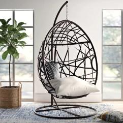 Teardrop Swing Chair Reclaimed Wood Chairs Mistana Destiny Tear Drop With Stand Reviews Wayfair