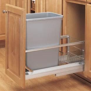 Kitchen Cabinet Trash Can Rack Wayfair