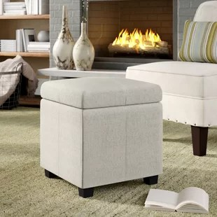 ottoman coffee tables living room black couch images ottomans poufs you ll love wayfair ca save