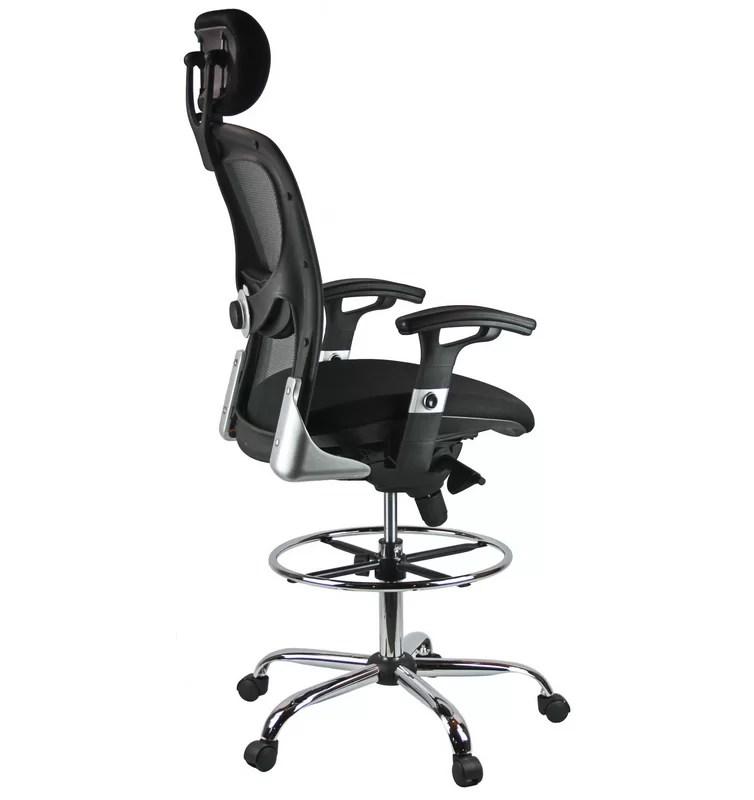 mesh drafting chair molding ideas harwick high back wayfair