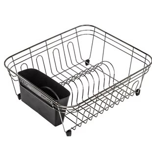 kitchen drying rack rustic black cabinets wayfair dish