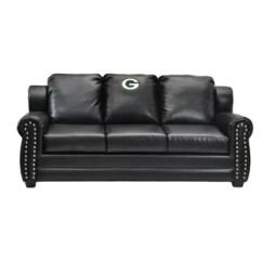 Dark Green Leather Sofa Beds Perth Lime Wayfair Nfl Coach