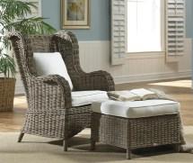 Panama Jack Sunroom Exuma Wingback Chair And Ottoman