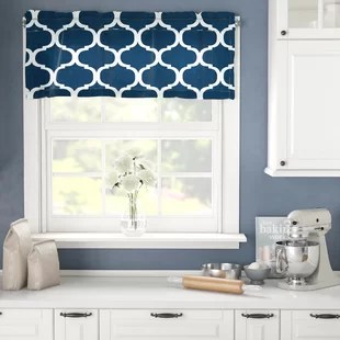 kitchen window valance hanging lights for island valances cafe curtains you ll love wayfair ca save