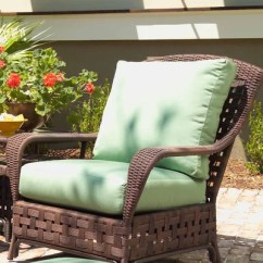 Al Fresco St Tropez Hanging Chair And Cushion Leather Sleeper Bed Lloyd Flanders Haven Patio With Cushions Wayfair