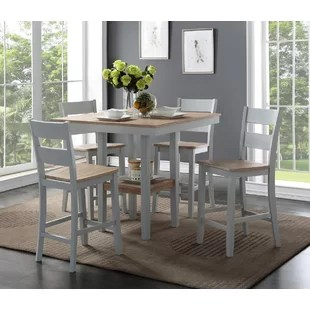 kitchen table nook knotty alder cabinets dinettes breakfast nooks you ll love wayfair liesel counter 5 piece solid wood dining set