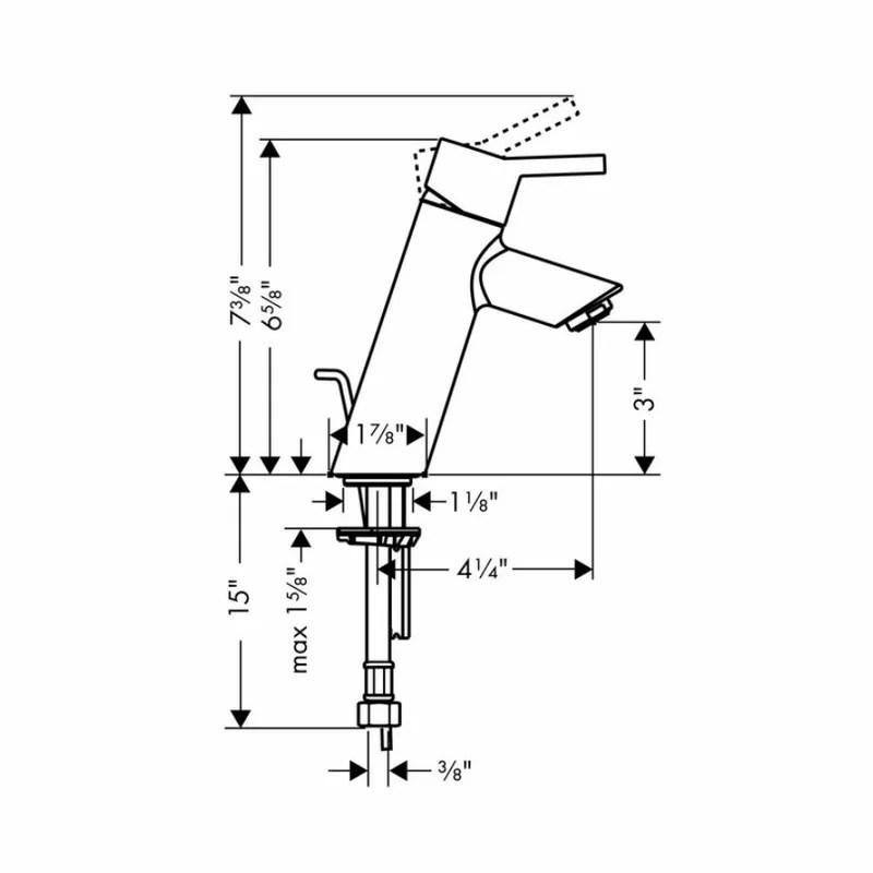 Hansgrohe Eurostyle Single Hole Standard Bathroom Faucet