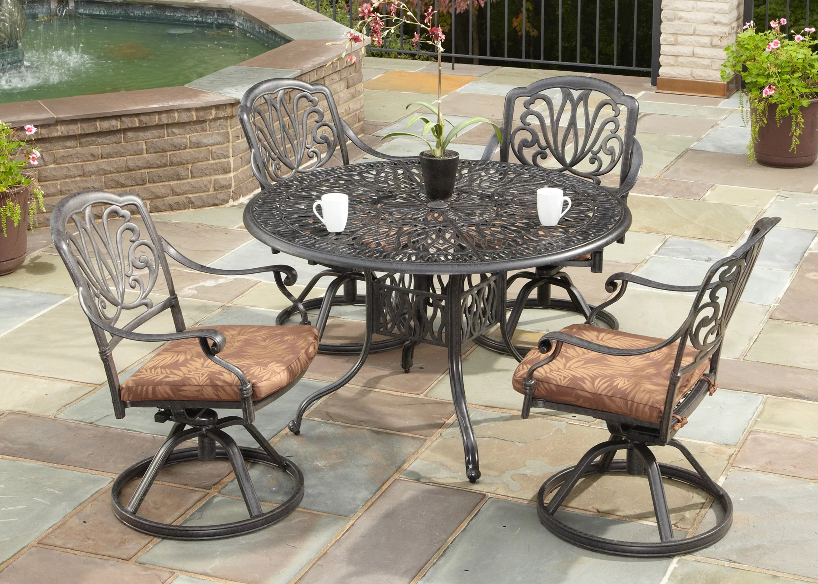 office chair qvc best desk for short person one allium way dwight 5 piece dining set with cushions