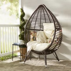 Comfortable Wicker Chairs Chair Design India Small Outdoor Wayfair Teardrop Patio With Cushions