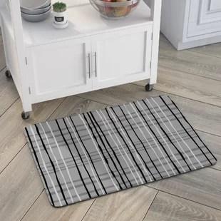 kitchen mats double sink modern contemporary cushioned floor allmodern swofford plaid mat