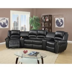 Stadium Seating Couches Living Room Contemporary Glass Side Tables For Theater You Ll Love Wayfair Quickview