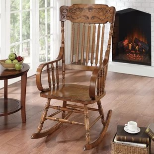 indoor rocking chairs for sale green garden chair covers small space wayfair dotson rocker