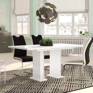 there a table and four chairs in my living room accent wall colors for with dark furniture dining tables extendable wayfair co uk nala