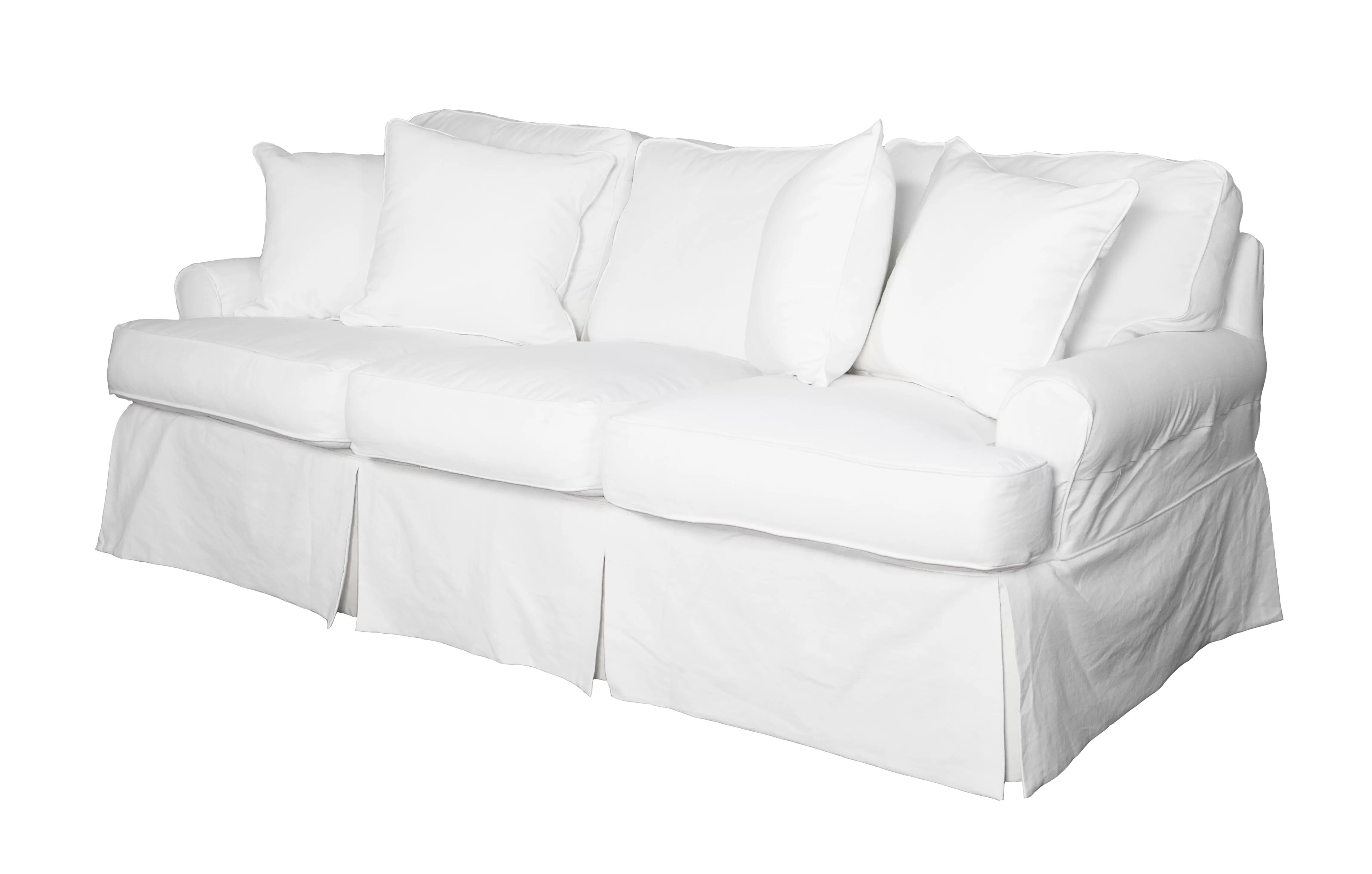 slipcover for sofa cushions separate loveseat set cheap t cushion slipcovers sure fit stretch faux leather