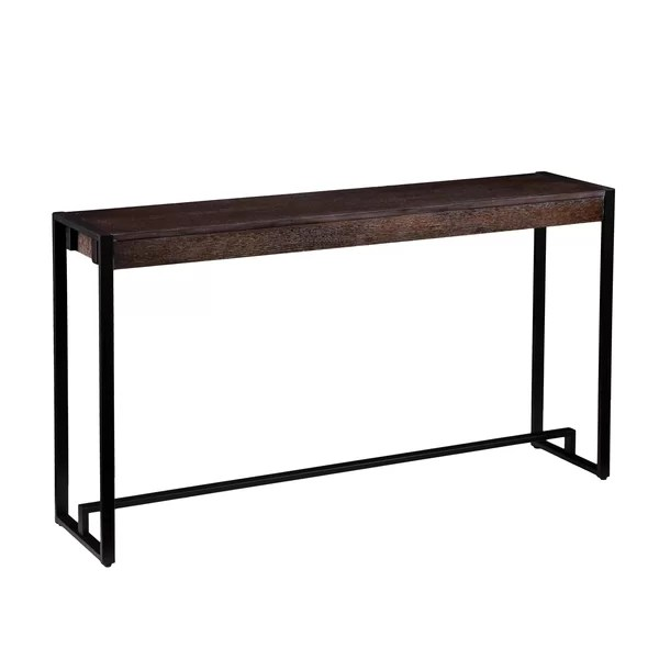 how to make a sofa table top cosmo grey leather modern console tables allmodern