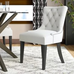 Gray Dining Chair Desk Rollers Mid Century Modern Kitchen Chairs You Ll Love Wayfair Carlton Upholstered
