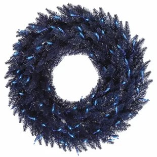 blue christmas wreaths you