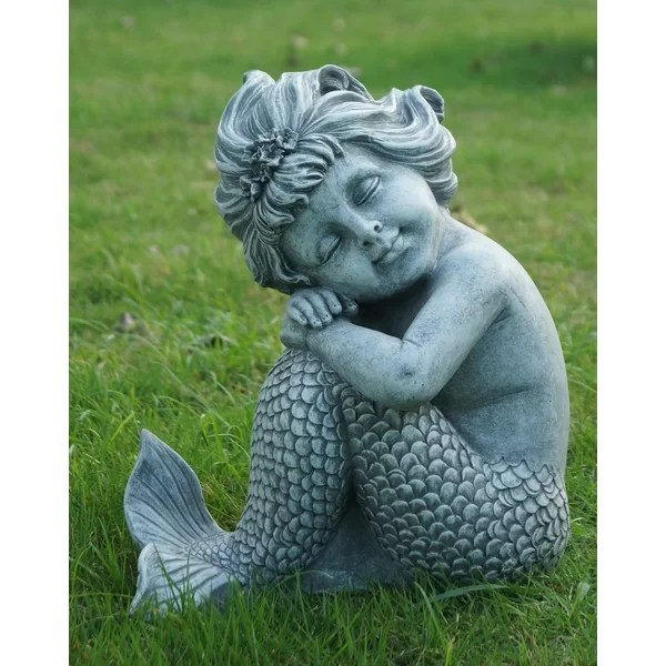 HiLine Gift Ltd Mermaid Sitting Statue  Reviews  Wayfair
