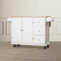 Wheeled Kitchen Island Trash Can Dimensions Islands Carts You Ll Love Wayfair Hardiman With Wood Top