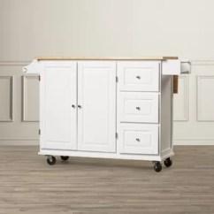 Kitchen Cart With Drawers Oak Cabinet Islands Carts You Ll Love Wayfair Hardiman Island Wood Top