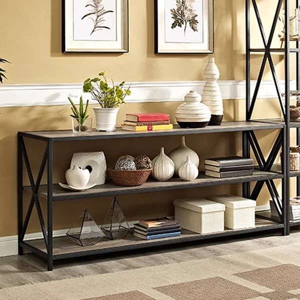 small side chairs for living room gold curtains ideas augustus media etagere bookcase & reviews | birch lane