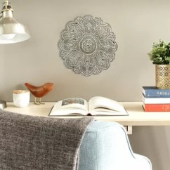 Living Room Decor With Grey Walls Open Plan Kitchen Design Ideas Wall Accents You Ll Love Wayfair Quickview Blue Gray