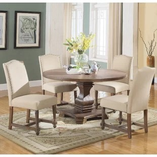 kitchen table sets glass pendant lights for round and chairs wayfair save