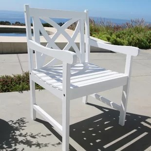 wooden garden chairs uk comfy gaming chair white wayfair co holladay outdoor wood